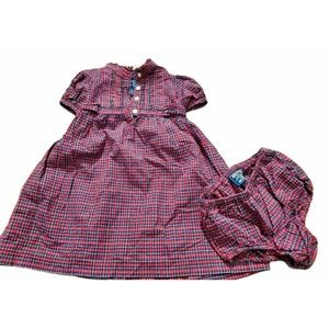 American Living Plaid Dress And Bloomer